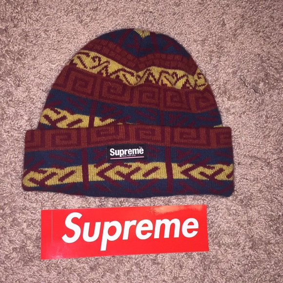 bd8d9fc0 Supreme Accessories | Fw18 Brushed Pattern Beanie Navy | Poshmark